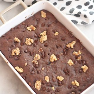 Move over banana bread...these banana brownies are another way to use up those ripe bananas! Gooey and chocolaty, they are amazing when they are warm with ice cream on top! #brownies #bananabread #bananasplit #ripebananas #chocolatelover #dessert #treats #easybaking #easyrecipes