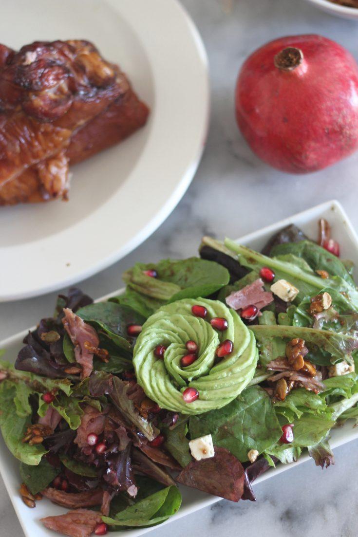 Smoked Turkey, Avocado and Pomegranate Salad