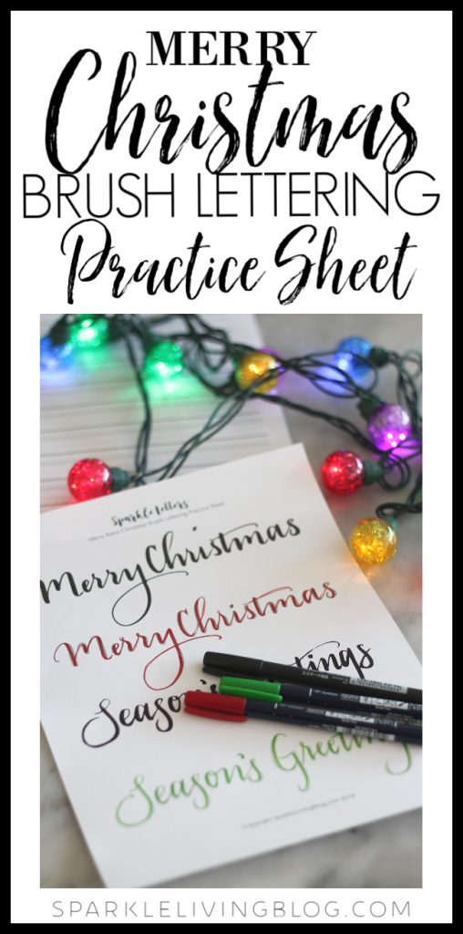 picture about Brush Lettering Practice Sheets Printable identified as Merry Xmas Brush Lettering Teach Sheet * sparkle
