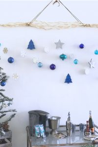 Make your own hanging branch ornament display!