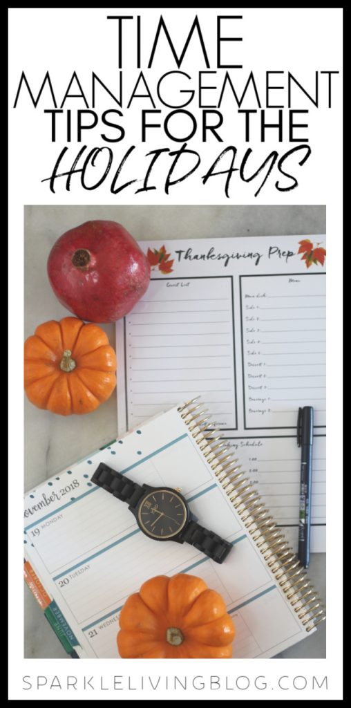 It's just the right time to start planning ahead for the most wonderful time of the year. Here are some time management tips for the holidays that will help keep the stress to a minimum. #holidays #Christmastips #Thanksgivingtips #Christmasstress #time