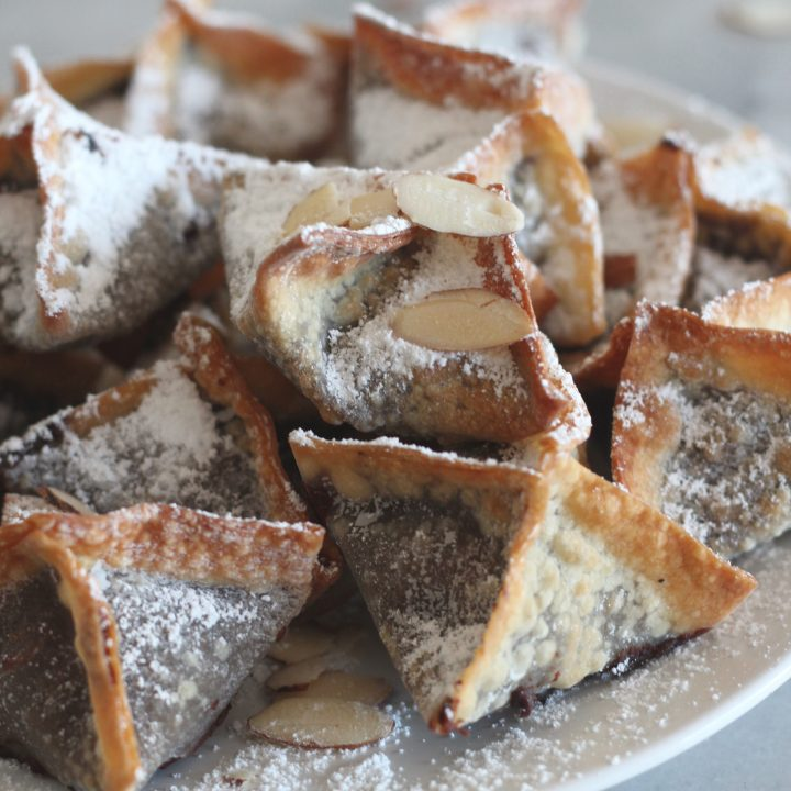 Chocolate Almond Cream Cheese Air Fried Wontons