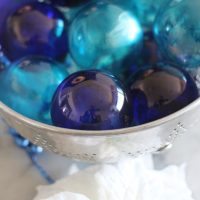 Clear Color Alcohol Ink Ornaments