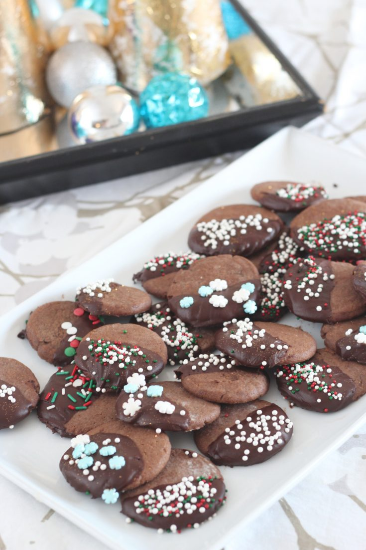 Mocha Chocolate Dipped Cookies