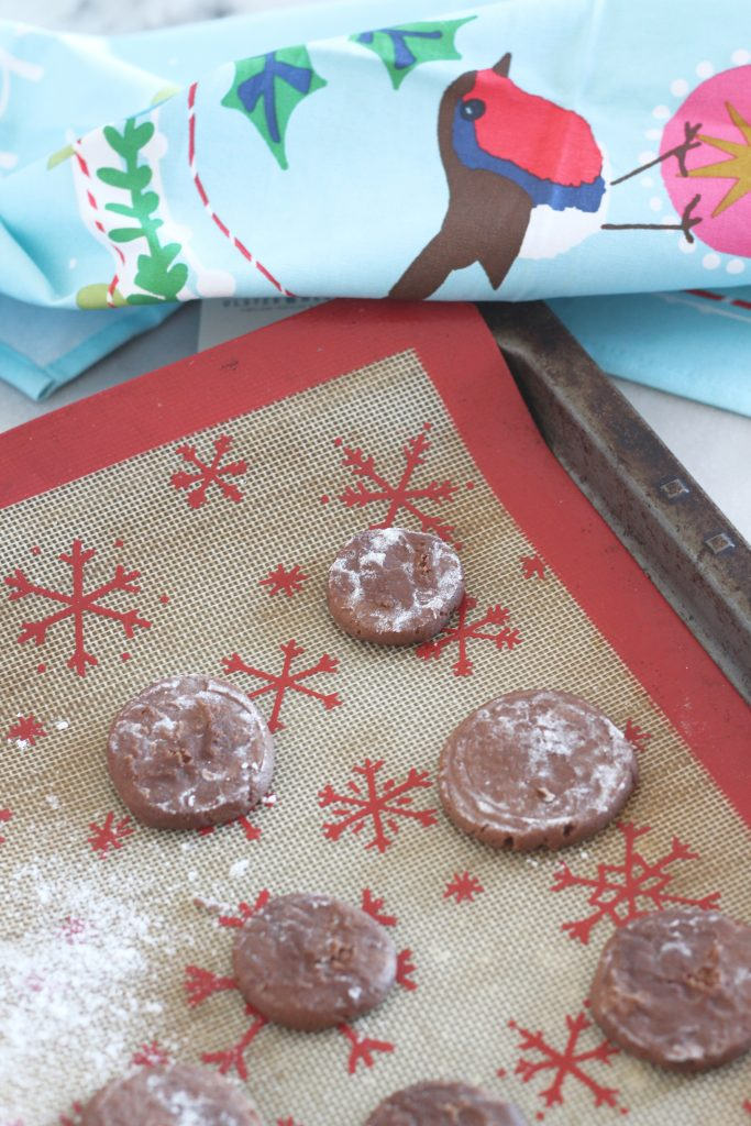 Make these Mocha Chocolate Dipped Cookies for your Christmas cookie tray! They have just a hint of coffee that brings out delicious chocolate flavor! #christmascookies #holidaytreats #mocha #chocolate #coffeecookies #12daysofchristmas