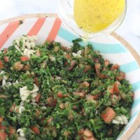Lemon Parsley and Tomato Salad with Quinoa Fusilli
