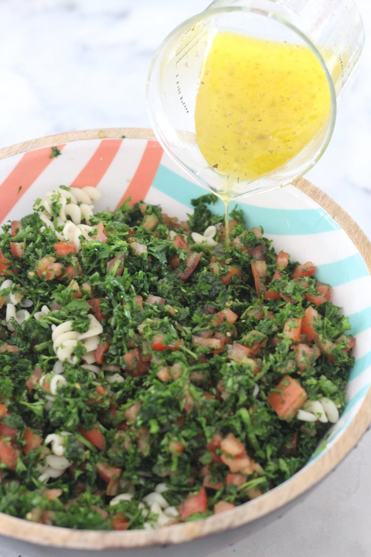 Lemon Parsley and Tomato Salad with Quinoa Fusilli