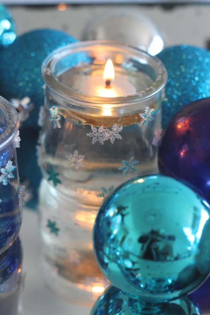 DIY Mini Snowflake Votive Holders