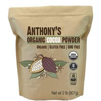 Organic Cocoa Powder (2 pounds) by Anthony's, Batch Tested and Verified Gluten-Free & Non-GMO
