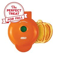 Dash Mini Waffle Maker Machine for Pumpkin Shaped Individual Waffles