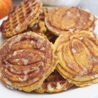 Pumpkin Liège Waffles with Pearl Sugar