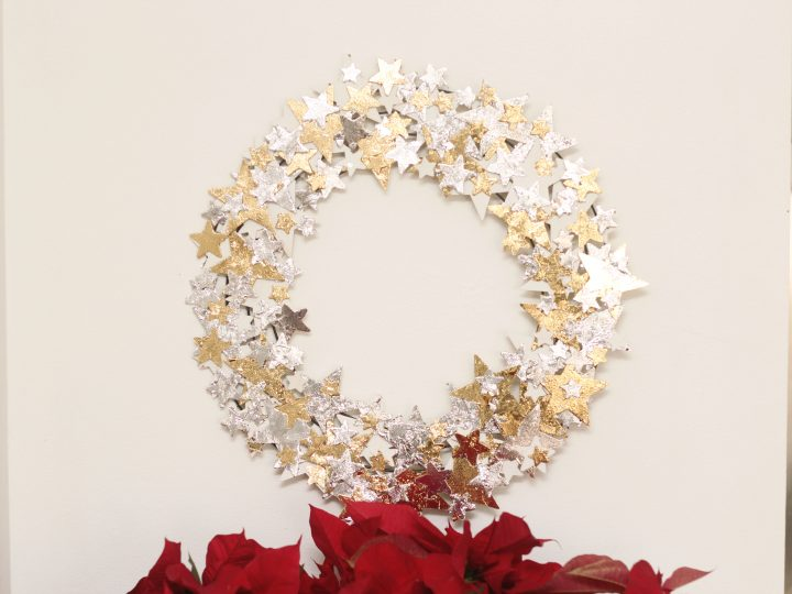 Gold and Silver Foiled Star Wreath