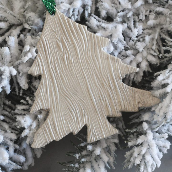 Woodgrain Tree Clay Ornaments