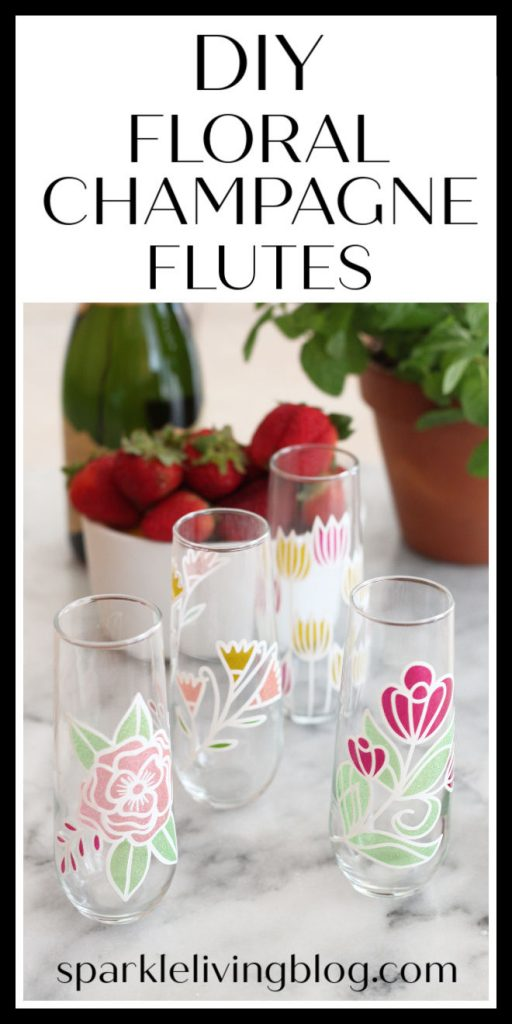 Tis the season for mimosas and other sparkly drinks! Drink them in style when you make these DIY Floral Champagne Flutes.