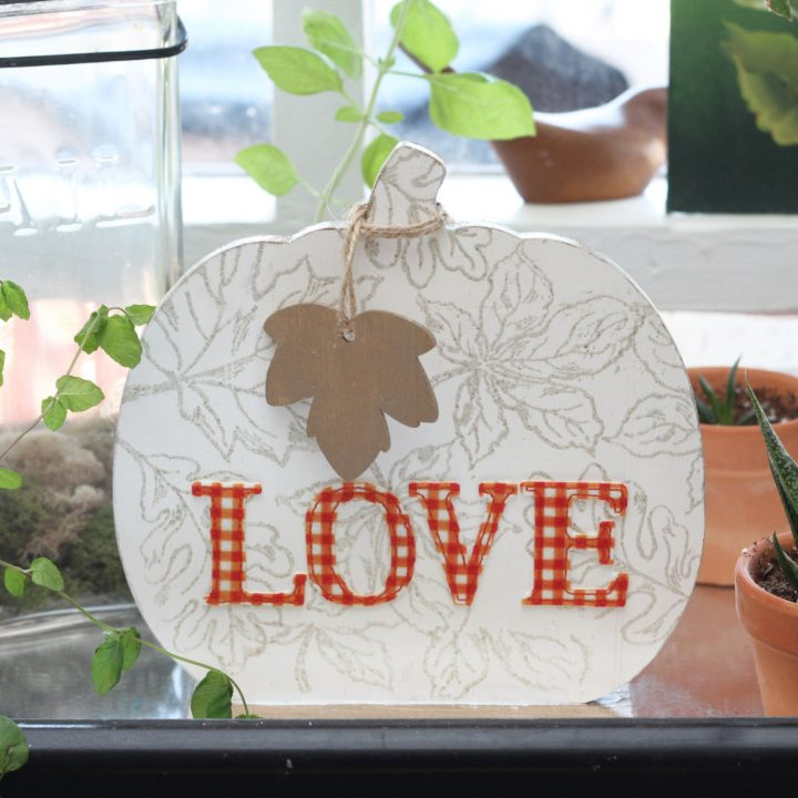 Pumpkin Love Stamped Wooden Sign