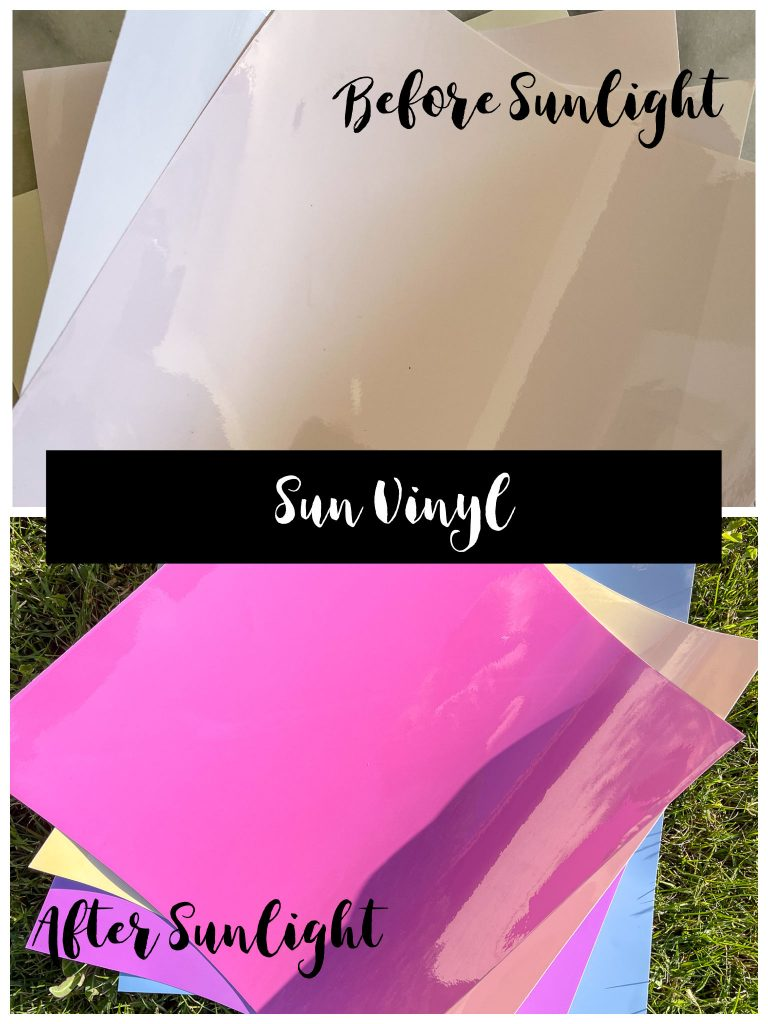 Sun vinyl before and after.